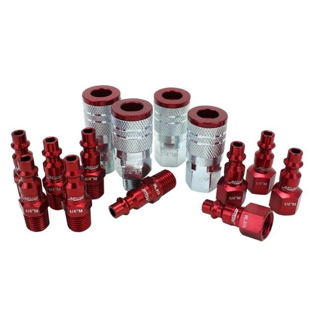 """ColorFit Plug Kit - (M-Style, Red) - 1/4"""" NPT, (14-Piece)"""