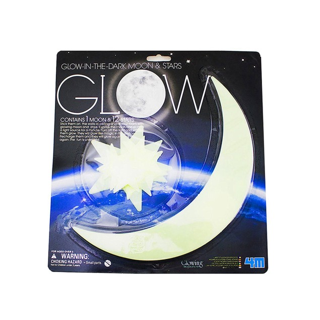 Glow in the Dark Moon and Stars Room Decorative Art Room Decor