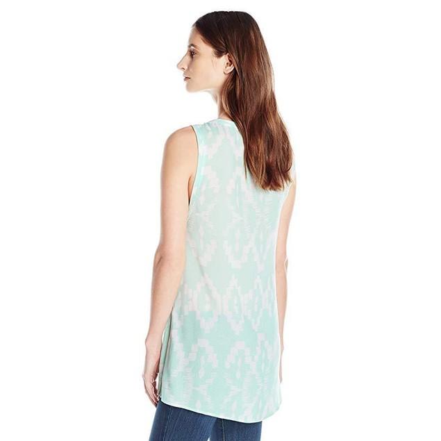 Lysse Women's Aria Zip Sleeveless, Aqua Samba Print, X-Small
