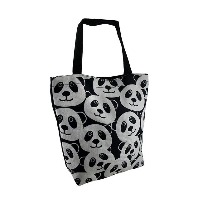 Panda Sack Animal Face Canvas Tote Bag Womens Tote Bags