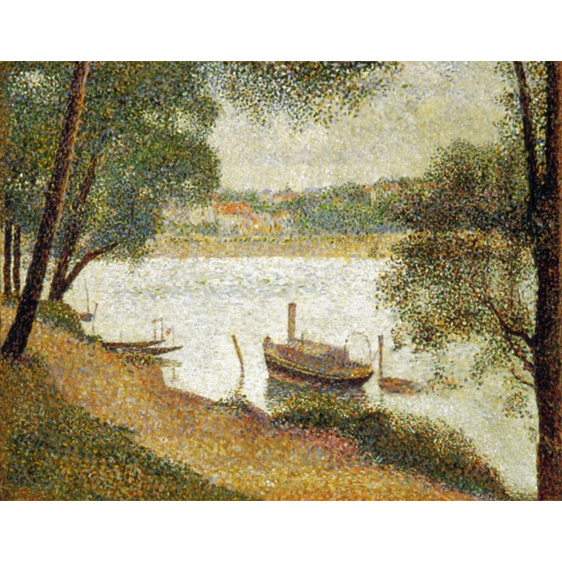 Seurat: Gray Weather. /Ngeorges Seurat: Gray Weather, Grand Jatte. Oil On C