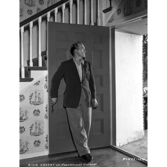 Bing Crosby Leaning on Door wearing Formal Suit Poster