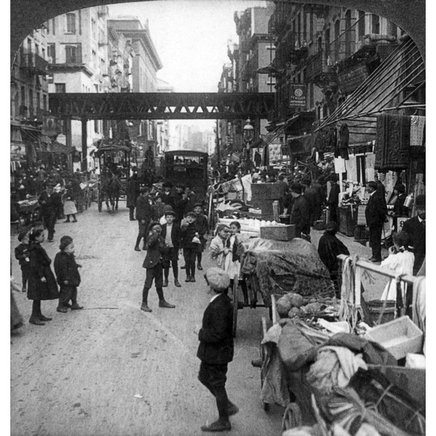 "Lower East Side, 1907. /N'""How The Other Half Lives"" In A Crowded Hebrew Di"