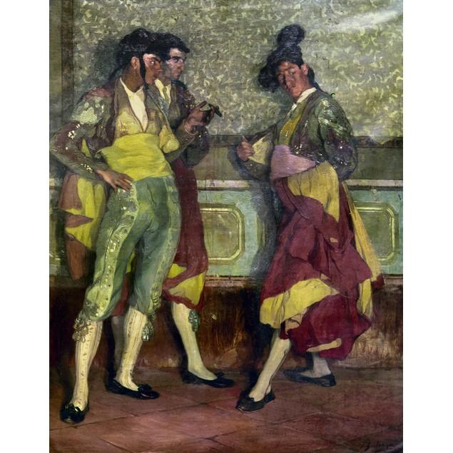 Zuloaga: Bullfighters. /Ntorerillos De Pueblo. Oil On Canvas, 1913, By Igna