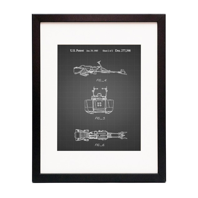 Star Wars Speeder Bike Patent Poster