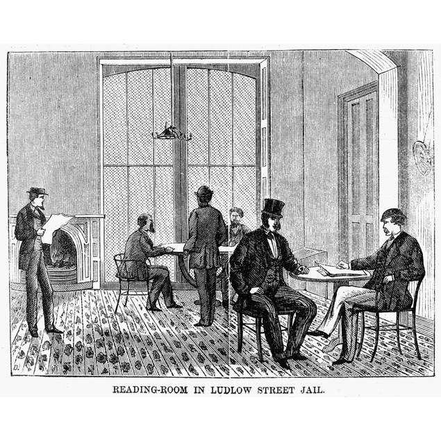 Ludlow Street Jail, 1868. /Nthe Reading Room In The Ludlow Street Jail, Sit