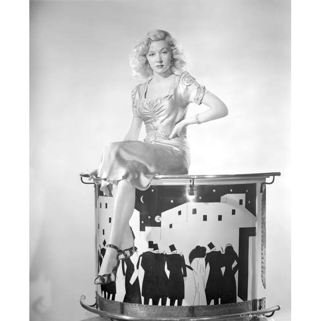 Portrait of Gloria Grahame in a Sexy Outfit Poster
