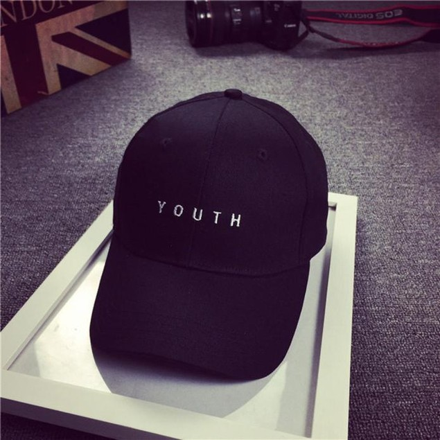 Embroidery Cotton Baseball Cap Boys Girls Snapback Hip Hop Flat Hat