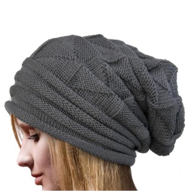 Women Winter Crochet Hat Wool Knit Beanie Warm Caps