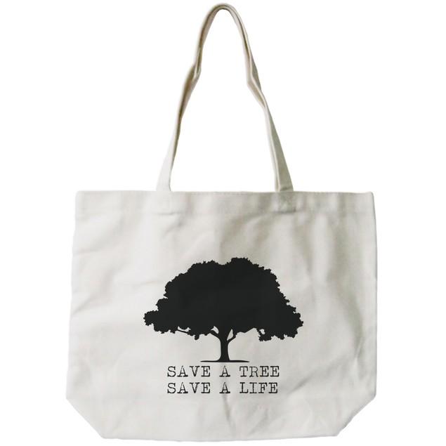 Save A Tree Save A Life Canvas Bag