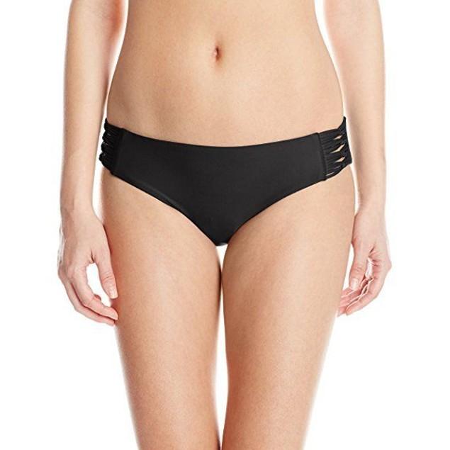Body Glove Women's Smoothies Ruby Bikini Bottom, Black, SIZE X-Large