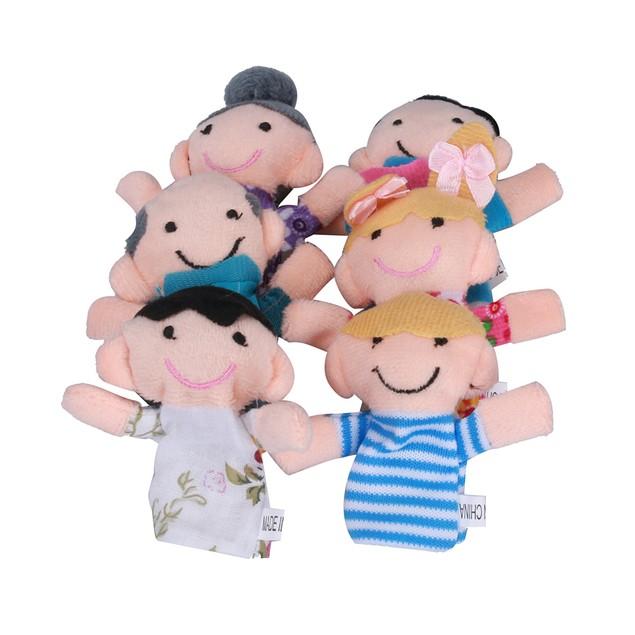 6 Pcs Finger Even Storytelling Good Toys Hand Puppet