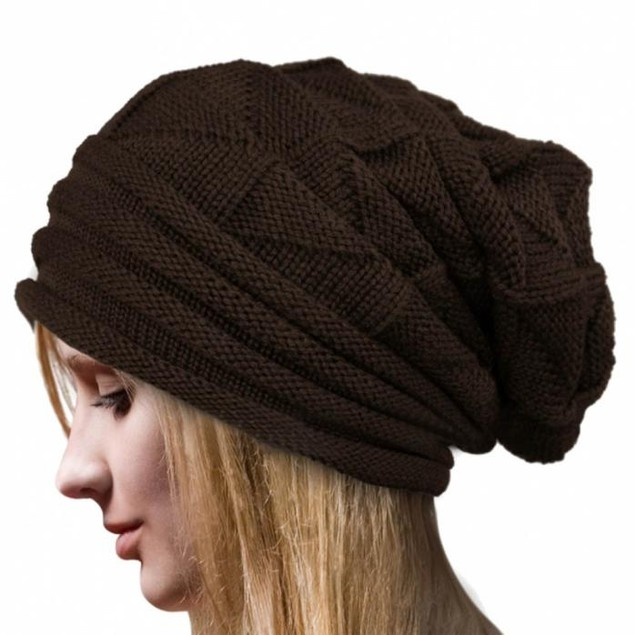 Women Winter Crochet Hat Wool Knit Beanie Warm Caps
