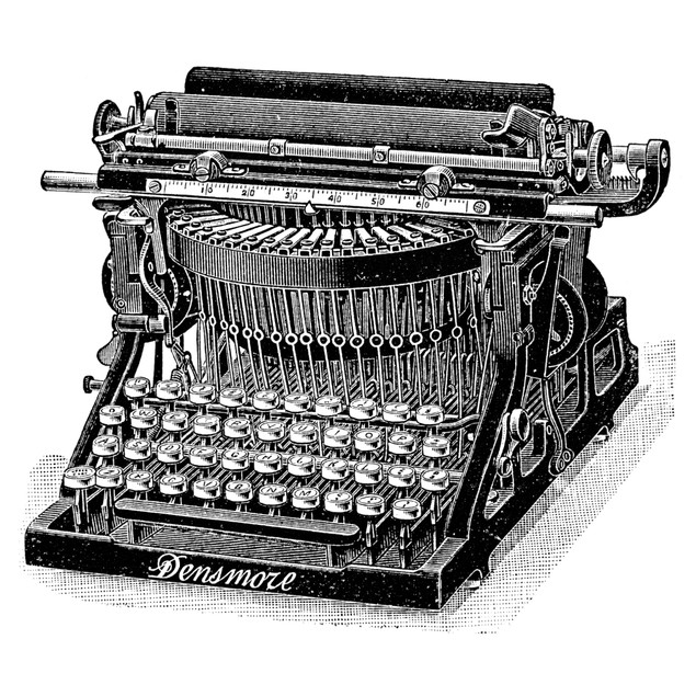 Densmore Typewriter. /Nwood Engraving, 1890S. Poster