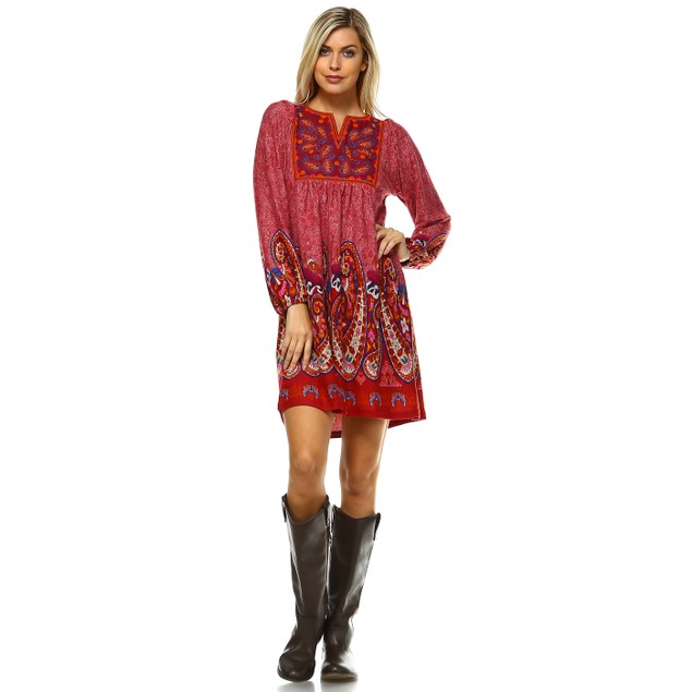 Apolline Embroidered Sweater Dress - 3 Colors - Extended Sizes