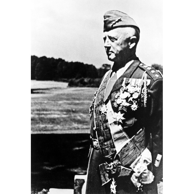 Candid of General George Patton Poster