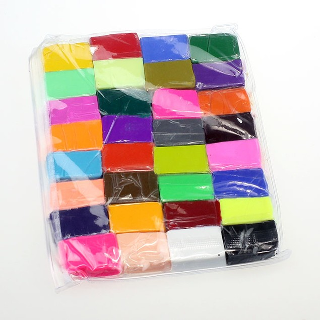 32 Piece DIY Malleable Fimo Polymer Modelling Soft Clay Blocks Plasticine