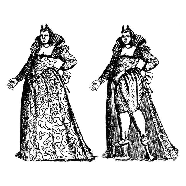 Chopine/Platform Shoe. /Nvenetian Woman Wearing Chopines, Or Platform Shoes