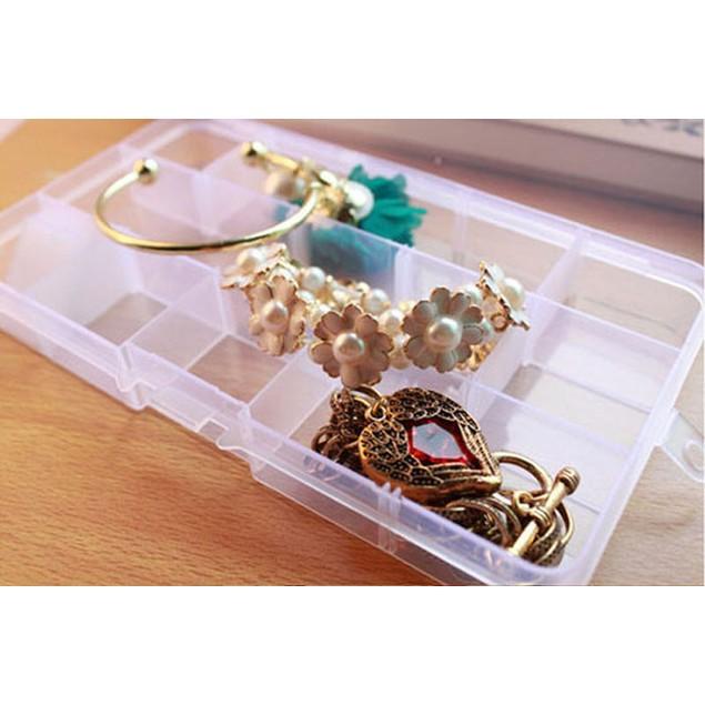 10 Grids Adjustable Pills Nail Art Tips Jewelry Beads Storage Box Case