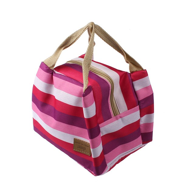 Lunch Bag Food Storage Picnic Insulated  Zipper Box Tote Bento Pouch