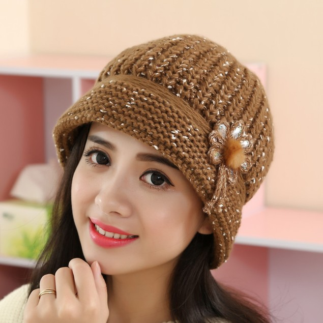 Fashion Women Lady Winter Warm Crochet Knitted Hat