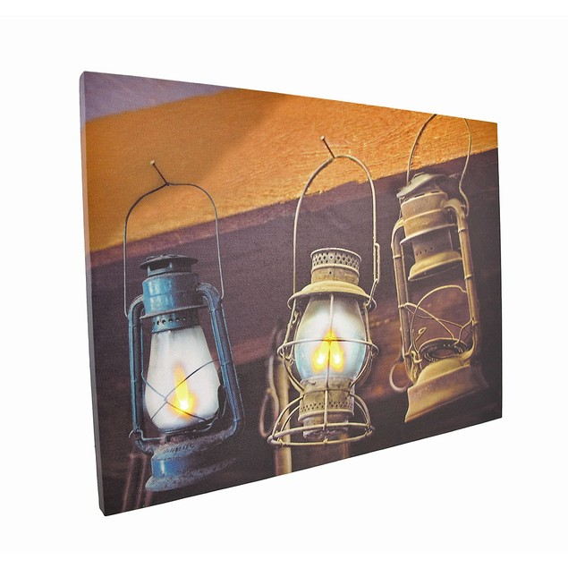 Flickering Led Hanging Lanterns Canvas Wall Prints