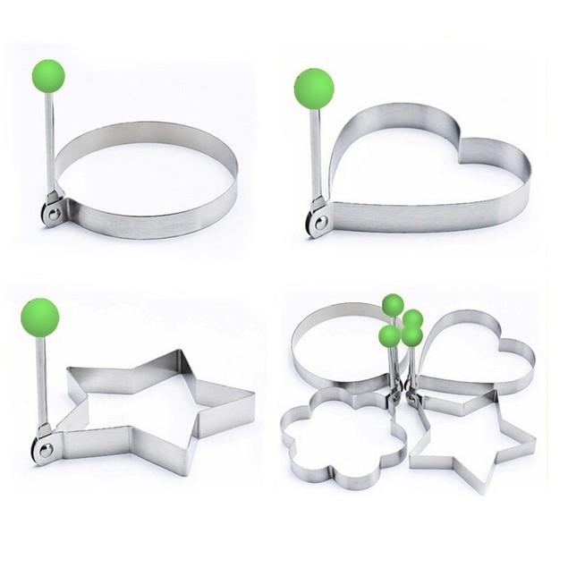 4-Piece Stainless Steel Omlette Shapes