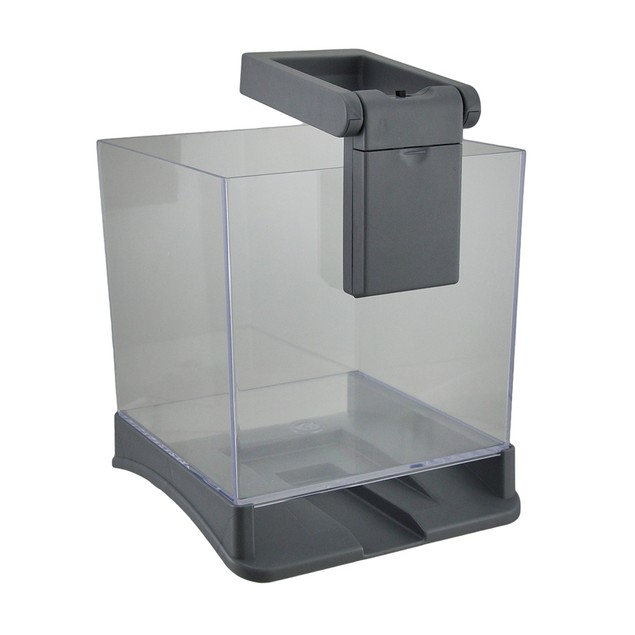 Betta Box .7 Gallon Betta Fish Cube Tank W/White Fish Bowls