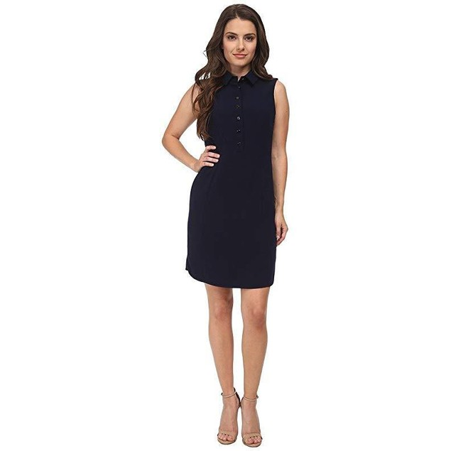 Tahari by ASL Petite Women's Petite Kristin Dress Navy Dress  Sz 14P