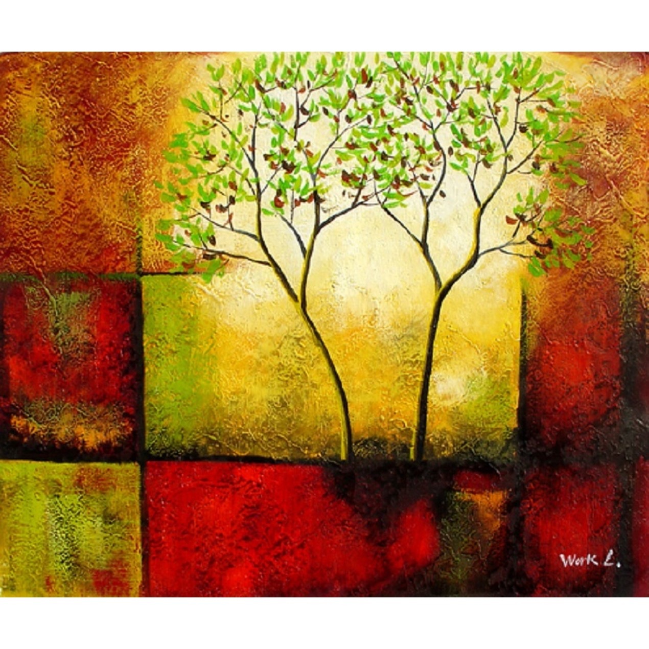 Tree Of Life Reproduction Huge Oil Painting On Canvas Hand Made