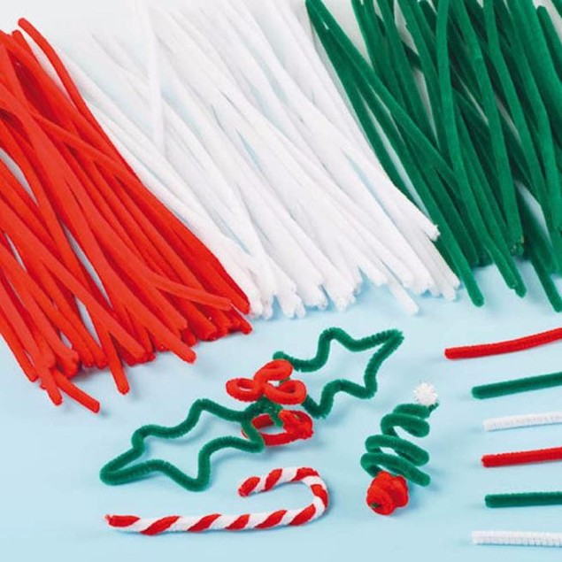 100-Piece Set: Colorful Pipe Cleaners for Crafts
