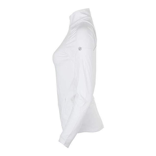 ASICS Womens Thermopolis 1/2 Zip, Brilliant White, SZ Small