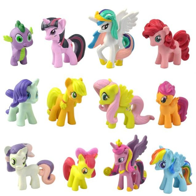 12PC My Little Pony Cake Toppers PVC Toys Gift Figurines Decoration