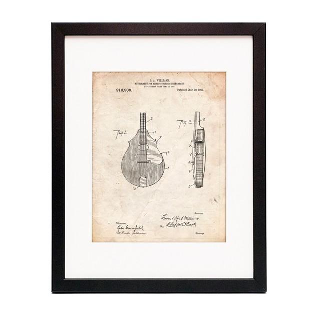 Mandolin Pick Guard Patent Poster