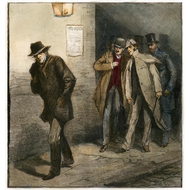 Jack The Ripper. /Nmembers Of The Vigilance Committee Scrutinize A Suspicio