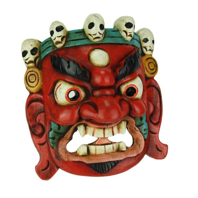 Nepalese Lord Mahakala Tibetan Buddhism Wooden Decorative Masks