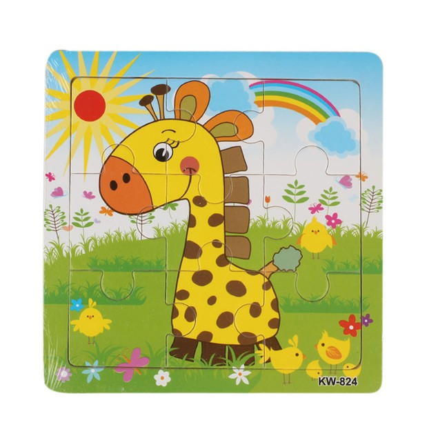 Wooden Giraffe  Jigsaw Toys For Kids Education Puzzles Toys