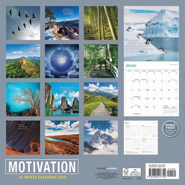 Motivation Wall Calendar, More Inspiration by Vista Stationery & Print Ltd