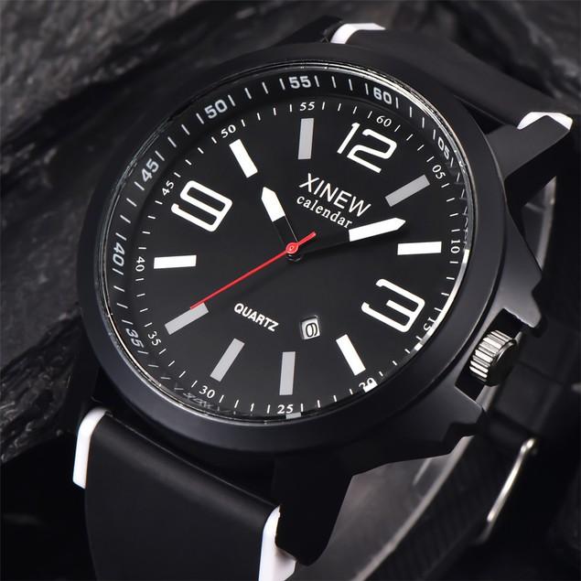Men's Stainless Steel Luxury Sport Date Analog Quartz Wrist Watch