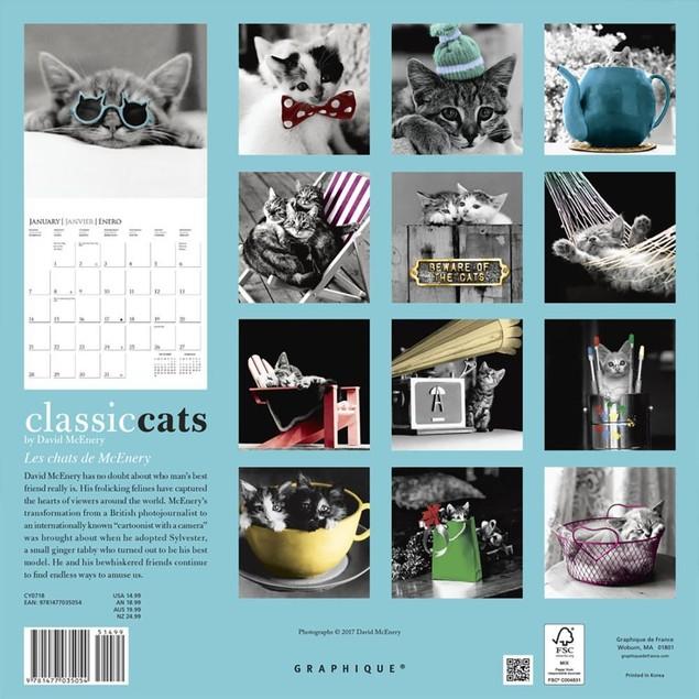 Classic Cats Wall Calendar, Assorted Cats by Calendars