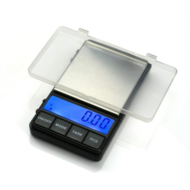 Digital Pocket Scale Jewelry Weight Stainless Steel for Kitchen, Gold.