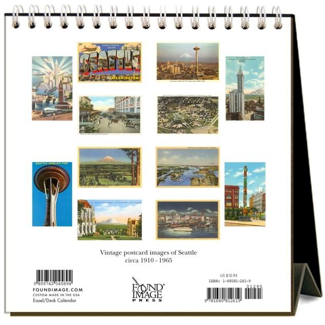 Seattle Nostalgic Easel Calendar, Seattle by Found Image Press