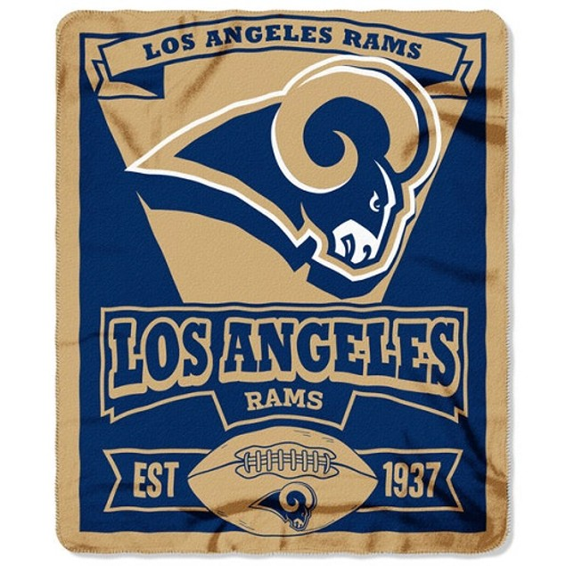 Los Angeles Rams NFL Northwest Fleece Throw