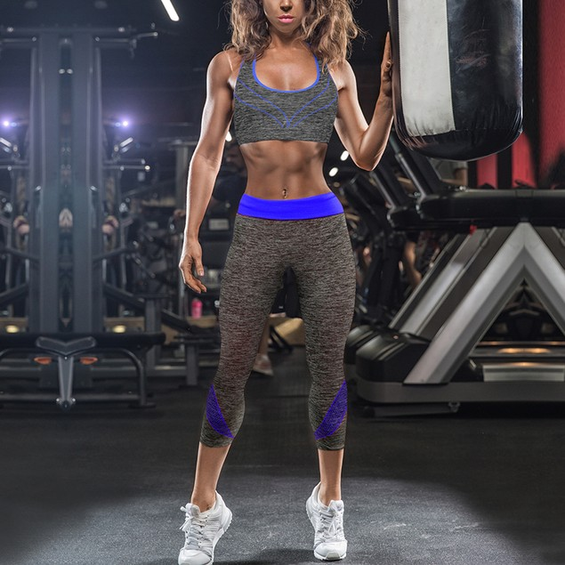 Sports Bra & Capri Leggings 2 Piece Set - pack options avail