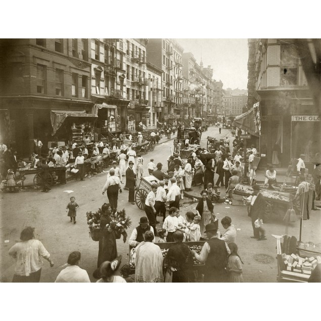 Nyc: Lower East Side./Nthe Intersection Of Orchard And Hester Streets On Ne