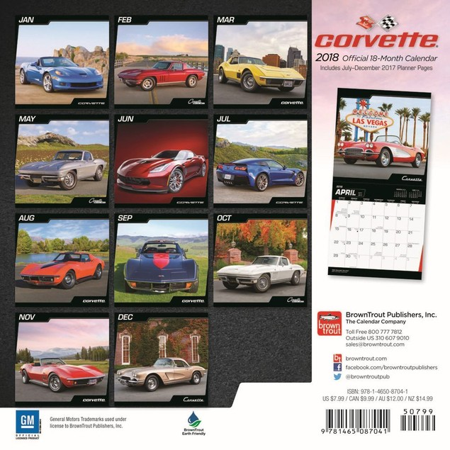 Corvette Mini Calendar, Corvette by Calendars