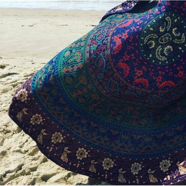 Ombre Round Beach Blanket