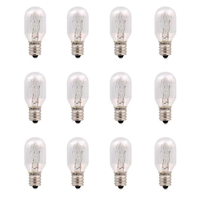 12 Pack-15 Watt Lamp Bulbs Incandescent Replacement Light Bulbs