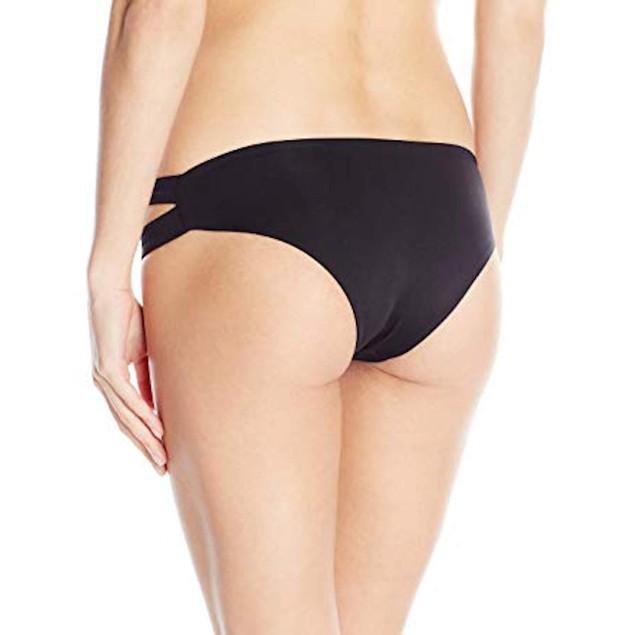 New LSpace Women's Estella Cut Out Bikini Bottom only  Black, Sz  Larg