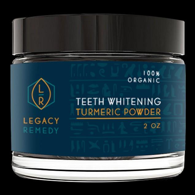 Legacy Remedy Organic Turmeric Teeth Whitening Powder